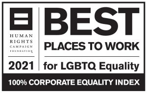 HRC CEI 2021 Best Places to Work for LGBTQ Equality